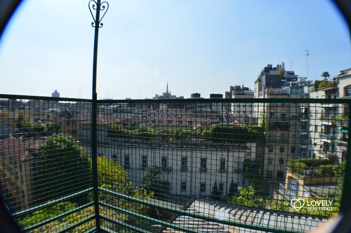 appartamento milano - splendido attico con terrazzo 90 mq vista ... - Terrazzo Milano