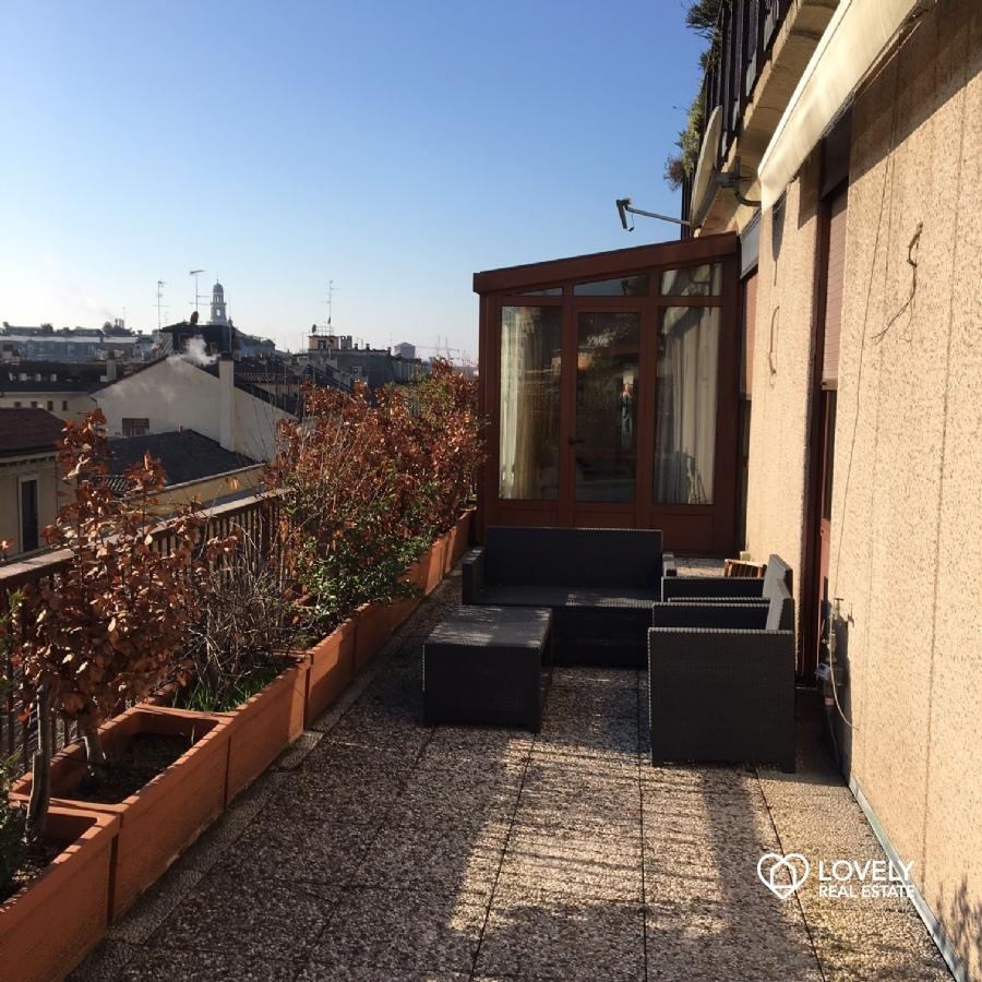 vendita appartamento milano brera attico con terrazzo