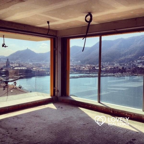 Vendita appartamento como meraviglioso attico con vista for Planimetrie vista lago